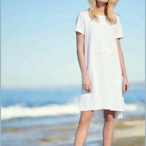 Eileen Fisher TShirt Casual White Stretc Ponte XXS